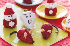 Le fragole milleforme sono simpatiche e dolcissime fragoline mascherate da topini, Santa Claus e fantasmini che faranno felici tutti i bambini.