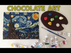 ▶ CHOCOLATE PAINT Vincent van Gogh Starry Night recipe HOW TO COOK THAT Ann Reardon - YouTube