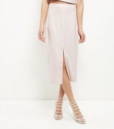 Discover the latest trends at New Look. Waist Skirt, Midi Skirt, High Waisted Skirt, New Look, Latest Trends, Skirts, Pink, Shopping, Shell