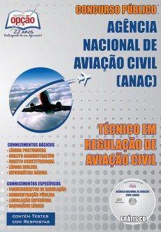 Apostila Concurso ANAC Técnico em Regulação de Aviação Civil (PDF, Download, Digital, Impressa)