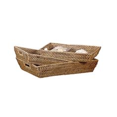 Rattan speaks the easy language of laid-back coastal style, and they make a great hardwearing material for trays that will get loads of daily use. Use each piece as a serving tray or simply place loose...  Find the Seaside Rattan Trays - Set of 3, as seen in the Cool Bohemian Patio Collection at http://dotandbo.com/collections/cool-bohemian-patio?utm_source=pinterest&utm_medium=organic&db_sku=CCO0051
