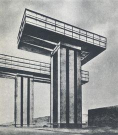Cloud Props (Project) - 1924  El Lissitzky and Mart Stam