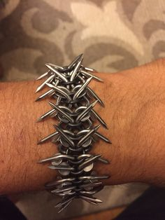 Necromaille, all hand bent nails