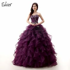 Find More Quinceanera Dresses Information about Purple Quinceanera Dresses 2017 Ball Gown Sweetheart Beaded Embroidery Floor Length Vestidos De 15 Long Prom Gown For Girl,High Quality purple quinceanera dress,China quinceanera dresses Suppliers, Cheap vestidos de 15 from Shop1404230 Store on Aliexpress.com
