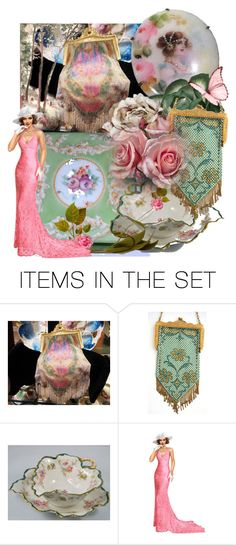 """""""Rose"""" by pattysporcelainetc ❤ liked on Polyvore featuring art, vintage and country"""