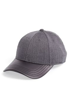 Gents Leather Brim Tweed Baseball Cap available at  Nordstrom Baseball Cap 69e0b8d3ff2c