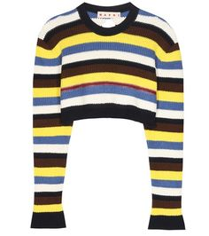 Marni Cotton And Virgin Wool Cropped Sweater For Spring-Summer 2017