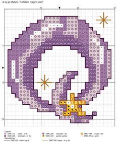 alfabeto magico viola: Q