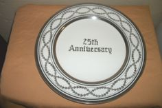 Commemorative 25th Wedding Anniversary Decorative Fine China Plate Gift Ready | eBay