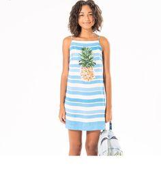 vestido listra abacaxi