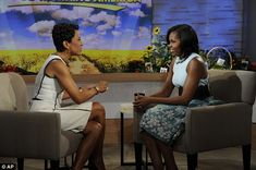 Doing the rounds: Michelle Obama appeared on Good Morning America to promote her new gardening book. It is the first of a flurry of television interviews she is having this week
