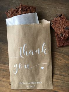 Wedding favor bags thank you Rustic Candy by DetailsonDemand