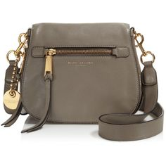 57d193c85ccd Marc Jacobs Recruit Small Saddle Bag (520 CAD) ❤ liked on Polyvore  featuring bags, handbags, shoulder bags, mink, brown leather shoulder bag,  saddle bags, ...