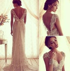 Vintage Wedding Dresses. Omg... Those sleeves. Perfect.