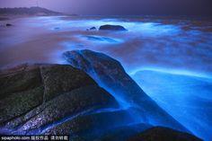 «Μπλε δάκρυα»: Μαγικές εικόνες απ' το μοναδικό φαινόμενο στην Κίνα   Photos & Video - iPop