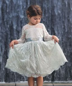 Trish Scully Child Blue Bella Estella Dress - Infant, Toddler & Girls   zulily