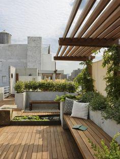 Images de décoration et idées déco de maisons Jardinière banc