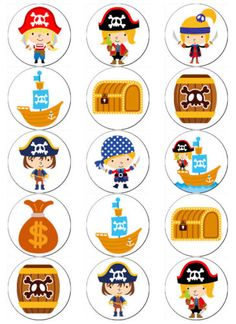 PIRATE-BOY-EDIBLE-WAFER-PAPER-TOPPERS-CUPCAKE-CAKE-MUFFIN-FAIRY Pirate Activities, Pirate Games, Activities For Kids, Pirate Boy, Pirate Theme, Cupcake Toppers, Cupcake Cakes, Pirate Clip Art, Pirate Birthday Cake