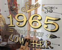 1965 Gilded Pub Mirror on Behance Painted Letters, Painted Signs, Pub Logo, Mirror Painting, Sign Painting, Door Signage, Window Signs, Signwriting, Pub Signs