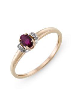 Ring met diamant en robijn R01-BS-0199RU
