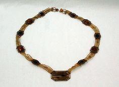 Jasper, agate and gold necklace, European, ca. 1815.