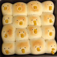 shy chic buns | 赤面するひよこちぎりパン