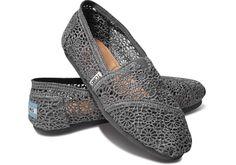 Klassieke damesschoen met Marokkaans haakmotief, zilver | TOMS