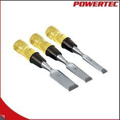 POWERTEC Wood Chisel Set , 3-Piece Hand Tool