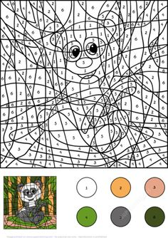 Panda Color By Number Coloring Page From Worksheets Category Select 24659 WorksheetsPrintable CraftsFree