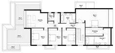 Malvern House by Lubelso _ second floor plan _ master bedroom