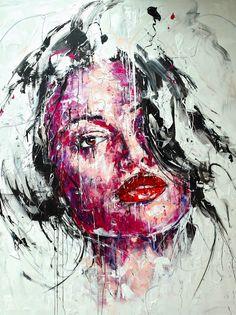 Lucile Callegari / T199 / Acrylique et fusain sur toile, 200x150cm, 2015.