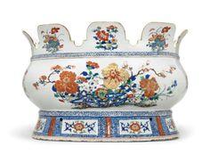 A large verte-Imari monteith, Qianlong period, circa 1740 - Alain. Antique Dishes, Dining Decor, Art Decor, Decorative Bowls, Period, Auction, Chinese, Antiques, Creative