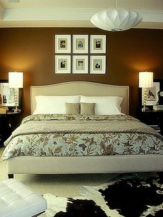 I love that the headboard extends to wrap around the bed... getting closer! Kudos to Becky Harris t houzz.com.