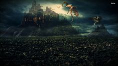 Medieval Fantasy Castle Wallpaper