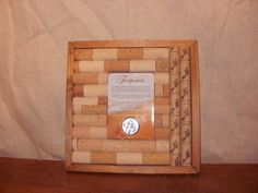 Footprints Recycled Cork Trivet (L)