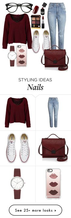 """casual"" by chantal-07 on Polyvore featuring H&M, Converse, Tom Ford, Casetify, Loeffler Randall, DKNY, MAC Cosmetics, casual and plain"