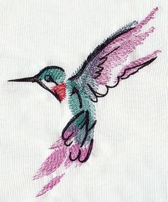 Painted Hummingbird | Urban Threads: Unique and Awesome Embroidery Designs