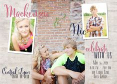 Items similar to Twins Graduation Announcement -- Open House Party Invitations - BOY & GIRL on Etsy House Party Invitation, Graduation Party Invitations, Graduation Cards, Graduation Ideas, Invitation Ideas, Graduation 2016, Lyon, Twin Senior Pictures, Senior Photos