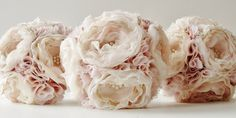 Fabric Bridal Bouquet Lace Bouquet, Flower Bouquet Wedding, Diy Wedding Projects, Fabric Flowers, Beautiful Flowers, Wedding Inspiration, Unique Jewelry, Bridal, Handmade Gifts