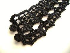 Black Crochet Lace Cuff
