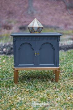 Gold Dipped Navy Dresser Set