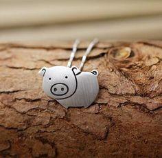 10pcs Handmade cute Pig Pendant, women necklace Lovely Pig Pendant, Anniversary, Birthday Christmas Gift jewelry