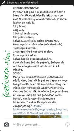 Braai Recipes, Veggie Recipes, Curry Recipes, South African Dishes, South African Recipes, Canning Vegetables, Veggies, Kfc Chicken Recipe, Best Pickles