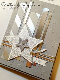 Creative Juice by Loni: Bright & Beautiful Silver Star card Stamps & Framelits