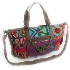 """'french touch' bag """"Desigual"""" multicoloured.,$124.00"""