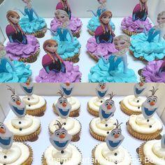 Frozen cupcakes Frozen Birthday Cupcakes, Frozen Theme Cake, Frozen Themed Birthday Party, Disney Frozen Birthday, Themed Cupcakes, Birthday Cake Girls, Baby First Birthday, Frozen Party, 2nd Birthday Parties