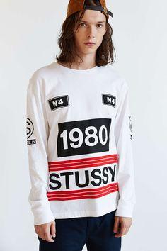 Stussy 1980 Stripe Long-Sleeve Tee
