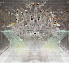 David Altmejd. plexiglass and thread