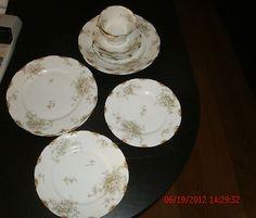 Vintage Theo Haviland Burley 2  Place Settings Apple Blossom Porcelain China