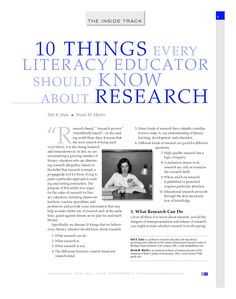 Good article, in summary...the goal of literacy  researchers is much the same as the  goal of literacy educators: to improve literacy  teaching and learning. Literacy  educators play a vital role in helping literacy  researchers meet this goal. Careful  reading, evaluation, and interpretation  by thoughtful and informed educators  offers our best chance at realizing the  full value of what this priceless tool—  research—has to offer. Visual Literacy, Digital Literacy, Media Literacy, Research In Education, Action Research, Teacher Librarian, Teacher Stuff, Information Literacy, Effective Teaching